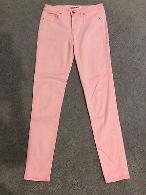 Country Road Size 8 Washed Out Neon Orange Jeans, HOT!
