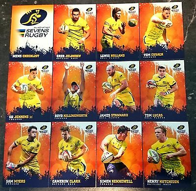 12 x  2016 Rugby Trading Cards Sevens Wallabies Tap N Play Bulk Lot