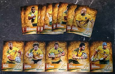 19 x  2016 Rugby Trading Cards Wallabies Tap N Play Bulk Lot Assorted