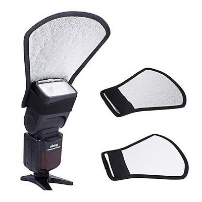 New Camera Flash Reflector Bounce Card Diffuser Speedlite Accessories