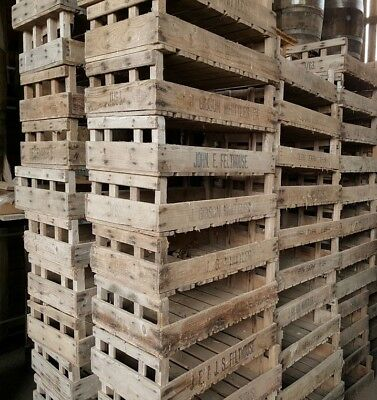 1 Vintage Reclaimed Potato / Apple Crate | Rustic Wood - Old Chitting Bushel Box
