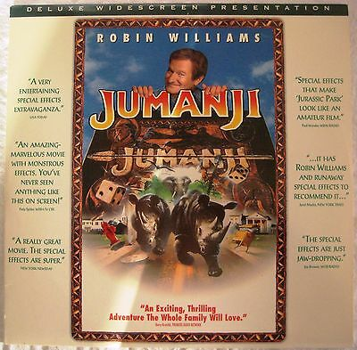 LASERDISC Jumanji - Cover Good & Disc is Good to VG