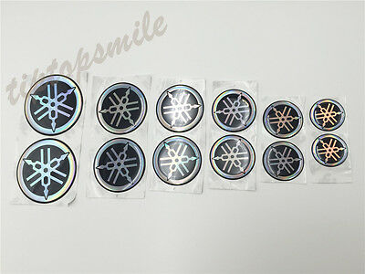 Motorcycle Fork Emblem Decal For Yamaha Tank Fairing Reflect Badge Soft Stickers