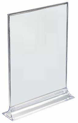 Acrylic Sign Holder - 8.5 x 11 - 8 1/2 x 11 - 2-Sided (Lot of 10) L@@K!
