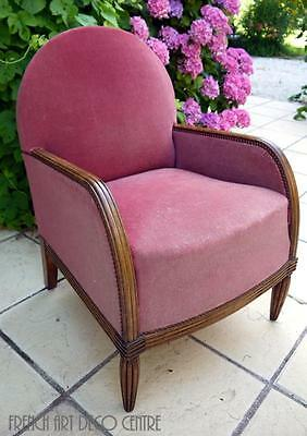 French Art Deco  Mahogany Armchair c1925