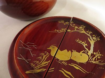 JAPANESE TRADITIONAL NATSUME LACQUER WOODEN TEA CADDY Writer products 12