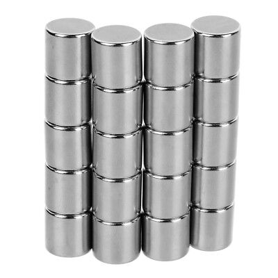Neodymium Magnets Rare Earth NdFeB 10*10mm Cylindrical Super Strong Craft Silver