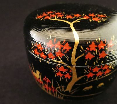 JAPANESE TRADITIONAL NATSUME LACQUER WOODEN TEA CADDY Writer products 5