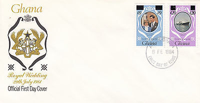 (03636) Ghana FDC Princess Diana Royal Wedding OVERPRINT 16 September 1981