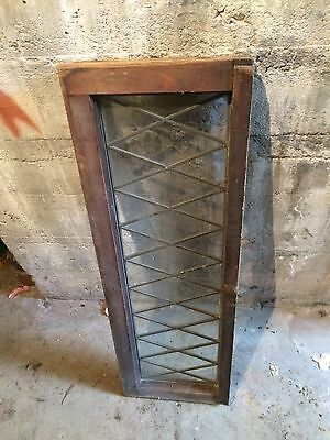 "Antique vintage leaded glass transom window 40.5""X 13"""