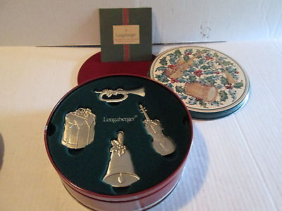 Longaberger 2003 Sounds of the Seasons Pewter Ornaments Musical Instruments