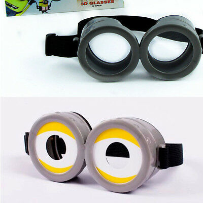 2017 Movie Despicable Me 3 Minions Cosplay Glasses PVC Eyewear Toy Props Goggles