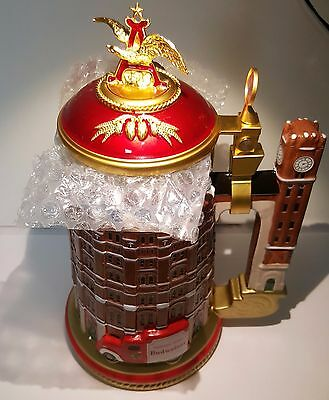 """Budweiser """"Brew House"""" Porcelain Stein Limited-edition with Cert. of Authenticit"""