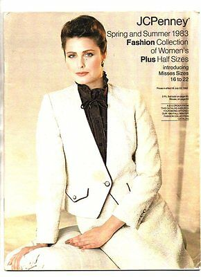 JCPenney spring and summer fasion colection catalog 1983