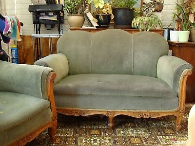 Edwardian Parlour Suit -  Sofa And Two Armchairs