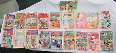 Vintage Bronze Age Archie Comics Lot Of 19 Books- Different Titles- See Inv. NR