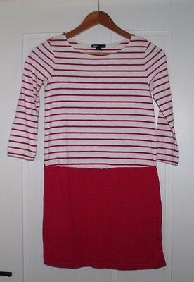 Gap Kids, Size XL (12), Pink and White Dress, Tunic, 3/4 sleeve