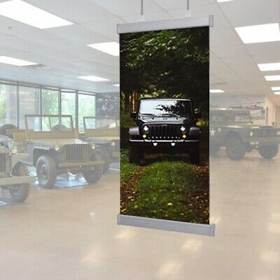24 inches Wide,Sign Poster Banner Hanger,Silver Aluminum Rail, Only Hardware