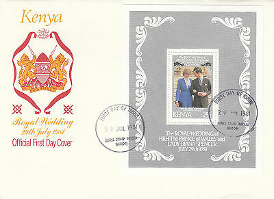 (03630) Kenya FDC Princess Diana Wedding 29 July 1981
