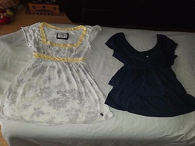 Lot of 2 Abercrombie and Fitch Babydoll Style Girls XL Shirts
