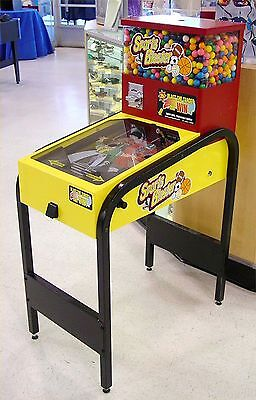 (1) Sports Blaster Gum Ball Vending Pinball Machine Game