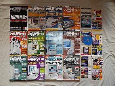 Lot collection PCW Personal Computer World 12 Months set from 2000 with CD/DVDs