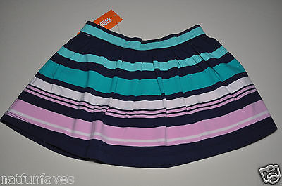 Gymboree girls striped blue green pink skirt size 8 NWT girl elastic waist