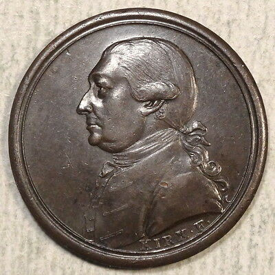 Bronze Medallette, David Garrick, Famous English Actor, Dated 1773, Dies by Kirk