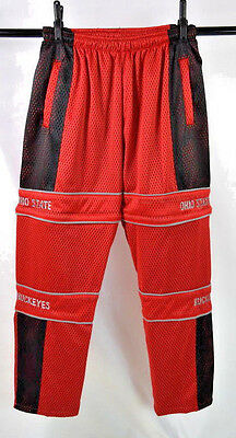 Vtg 90s OHIO STATE Buckeyes Red Mesh Jersey Shorts Zip Off Pants Combo Men 2XLT