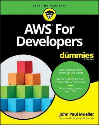 Aws for Developers for Dummies by John Paul Mueller Paperback Book Free Shipping