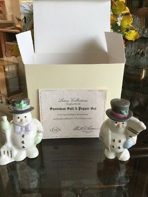 Lenox Snowman Salt/Pepper Shakers