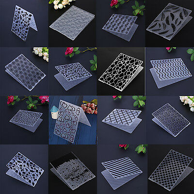 Plastic Embossing Folder Template DIY Scrapbook Paper Craft Decor 46 Pattern New