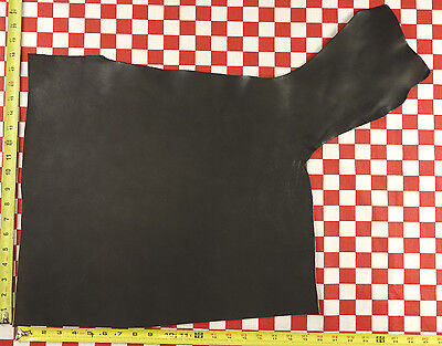 """HORWEEN ROUGH BLACK TUMBLED CHROMEXCEL LEATHER HIDE 6 oz. 27x21"""",  1ST. QLTY"""