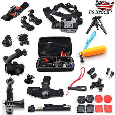 Sports Action Camera Accessories Kit Bundle sj4000 GoPro Hero 4/3+/3/2/1 w/ Case