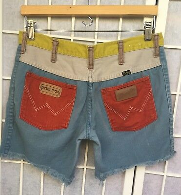 "Vintage Peter Max Wrangler Color Blocked Altered Womens Shorts fits Sz 32"" *Read"