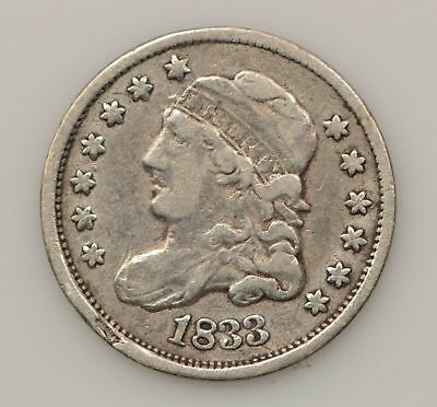 1833 Capped Bust Silver Half Dime *G93