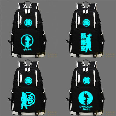 Dragon Ball Z Sun Goku Luminous Shoulder Backpack Casual Laptop School Large Bag