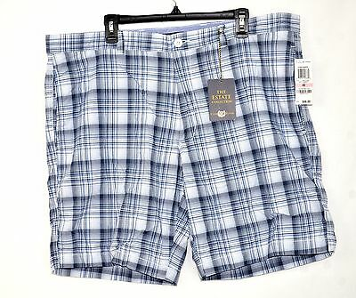 "Club Room Men's Flat Front Plaid 9"" Shorts Size 40"