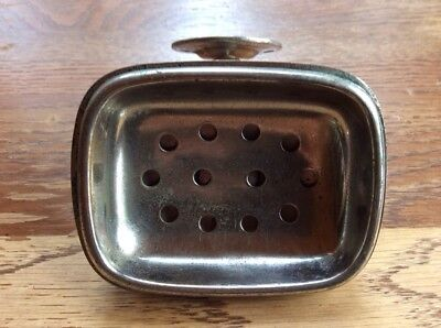 Vintage Antique Metal Wall Mount Soap Dish With Removable Plate