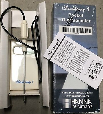 Hanna Instruments HI98509 Checktemp 1 Pocket Thermometer Digital Reader NIB