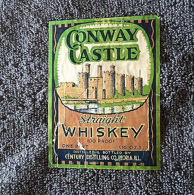 Conway Castle Whiskey Label- Peoria, Illinois!!