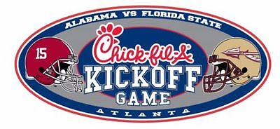 2 Tickets (Founders Section - C110) ~ Alabama vs. Florida State  9/2/2017