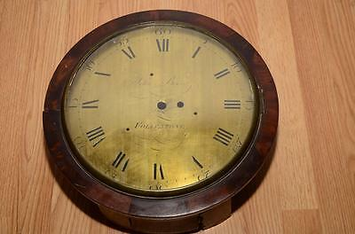 "Antique Rare John Boxer Folkestone Clock 12"" Brass Face & Cabinet"