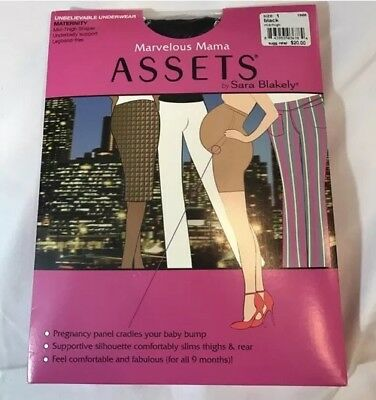 NWT Marvelous Mama ASSETS Sara Blakely Black underwear