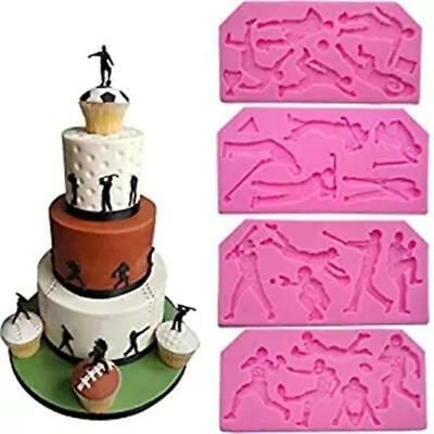 Silicone Mold Sports Ball Baking Mould Golf Baseball Chocolate Cake Topper JJ