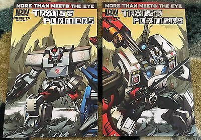 TRANSFORMERS MORE THAN MEETS THE EYE (2012) #1 Milne A D Variant Set IDW HTF NM