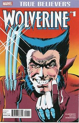 WOLVERINE #1 Limited Series Frank Miller Chris Claremont True Believers variant