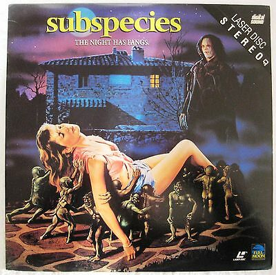 LASERDISC Subspecies (NOT Widescreen) - Cover Good & Disc is Good to VG
