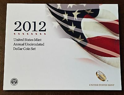 2012 US Mint Annual Uncirculated Dollar Coin Set WITH 2012 W Silver EagleSOLDOUT