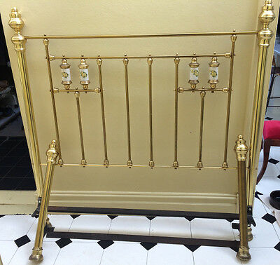 Brass Bed - Full brass Queen size bed.